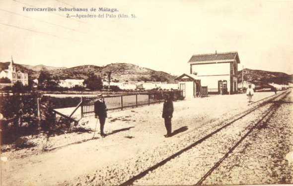 Suburbanos de Malaga, apeadero de El Palo,