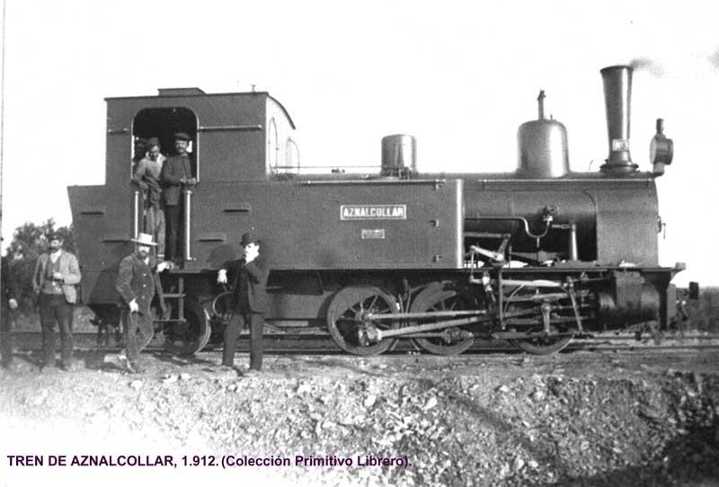 Locomotora en 1912, foto Primitivo Librero