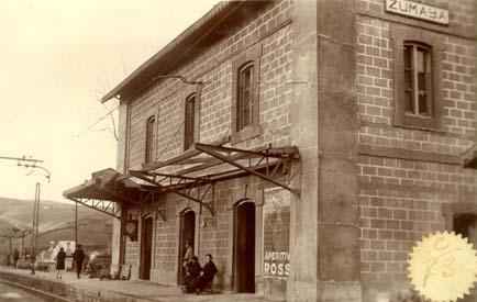 Estacion de Vascongados en Zumaya, año 1930.