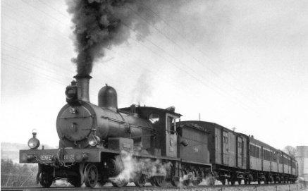 Tren con la locomotora