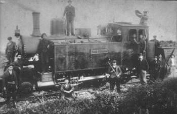 Locomotora Borsig San Tirso, fondo : Jose Manuel Rivera