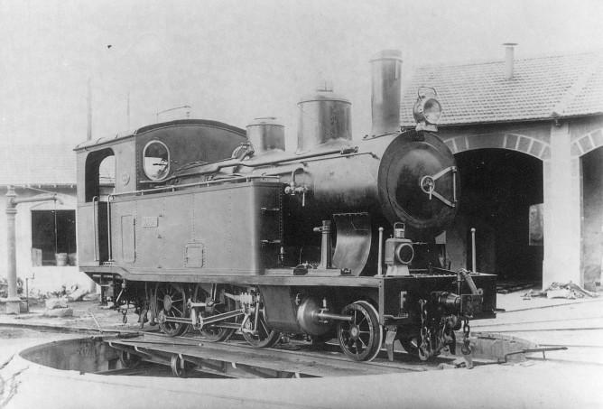 Locomotora Sóller nº 1, autor desconocido, fondo de Carlos Olmo