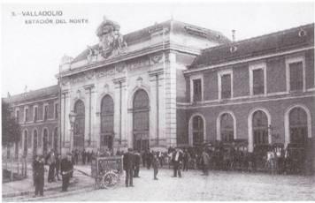 Valladolid Facaha de la estacion del Norte