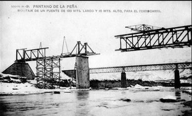 Lanzamiento del puente sobre el Gallego