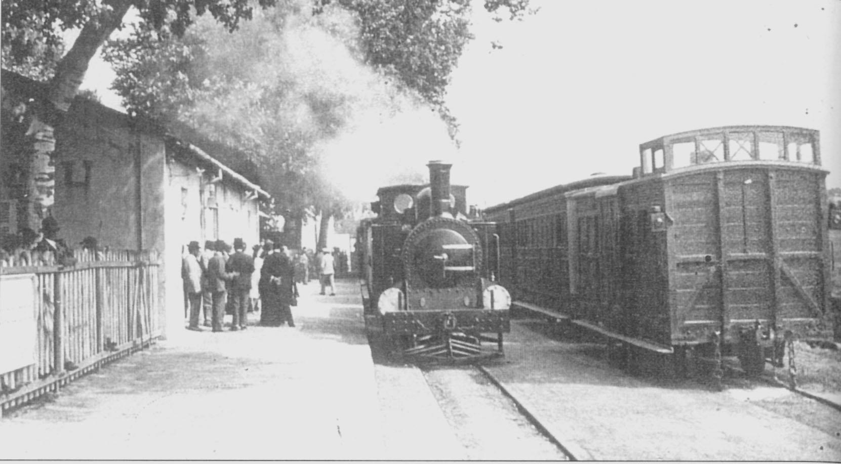 estacion de Sineu , año 1920,