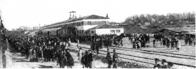 Inauguaracion de la linea en la estacion de Caminreal