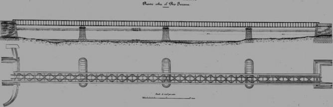 Nuevo puente metalico sobre el Jarama
