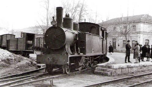 Locomotora nº 8 en Valladolid, mayo 1965, Foto: Trevor Rowe