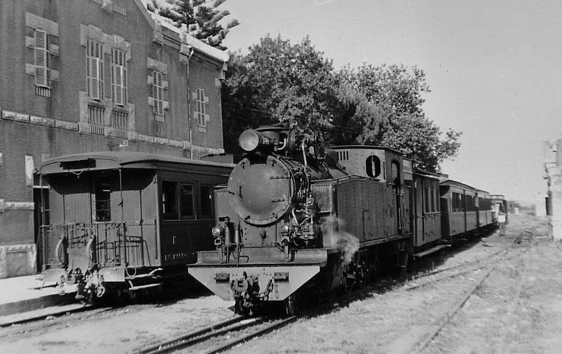 Estación de Artá, año 1960,