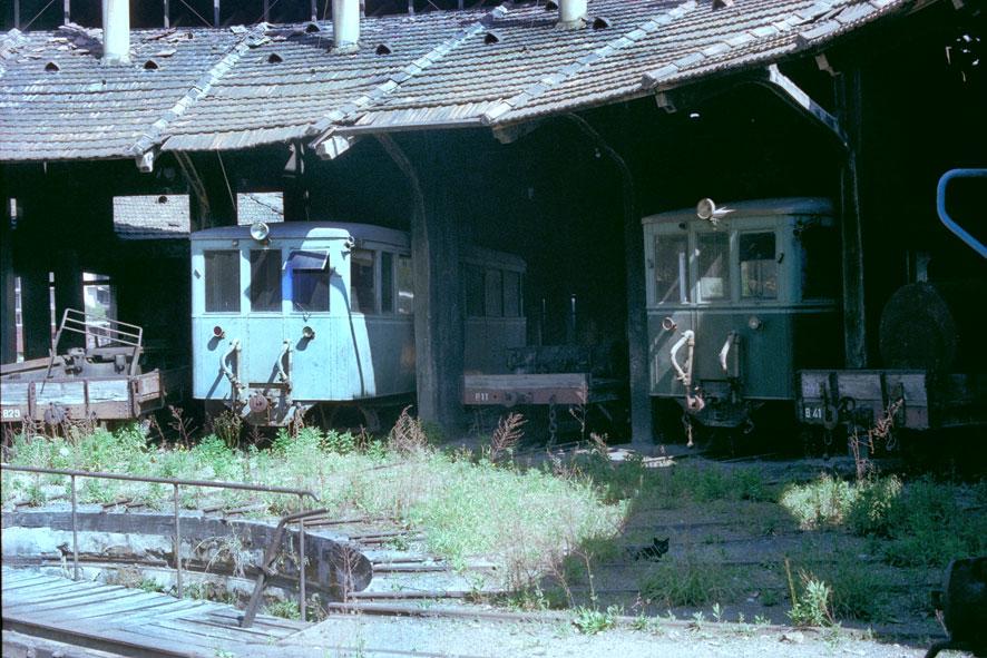 Deposito de locomotoras de Palma, abril 1974,