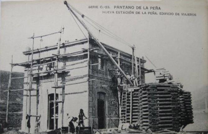 Construcción de la nueva estacion de La Peña