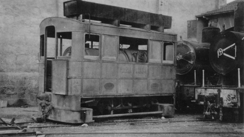 """Locomotora """"Maria Luisa"""" , año 1940"""