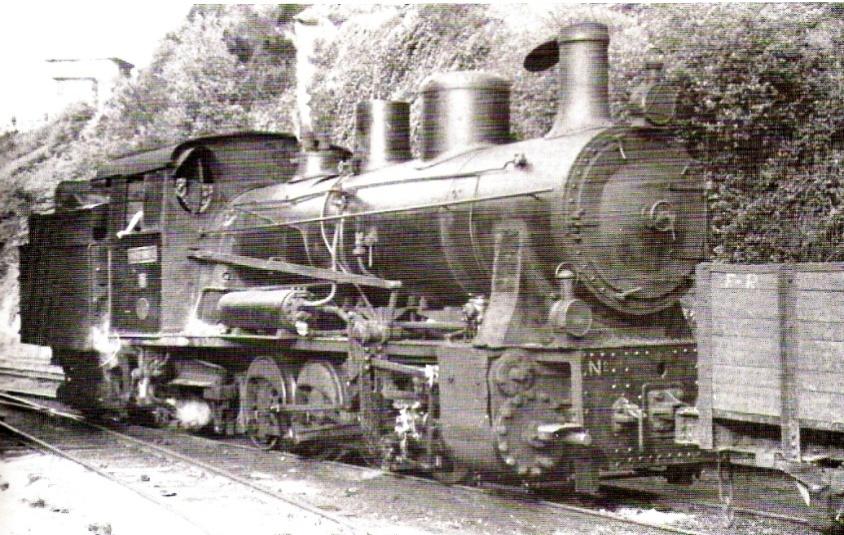 """Locomotora nº 72 """"E. de la Gandara"""" en Valmaseda,"""