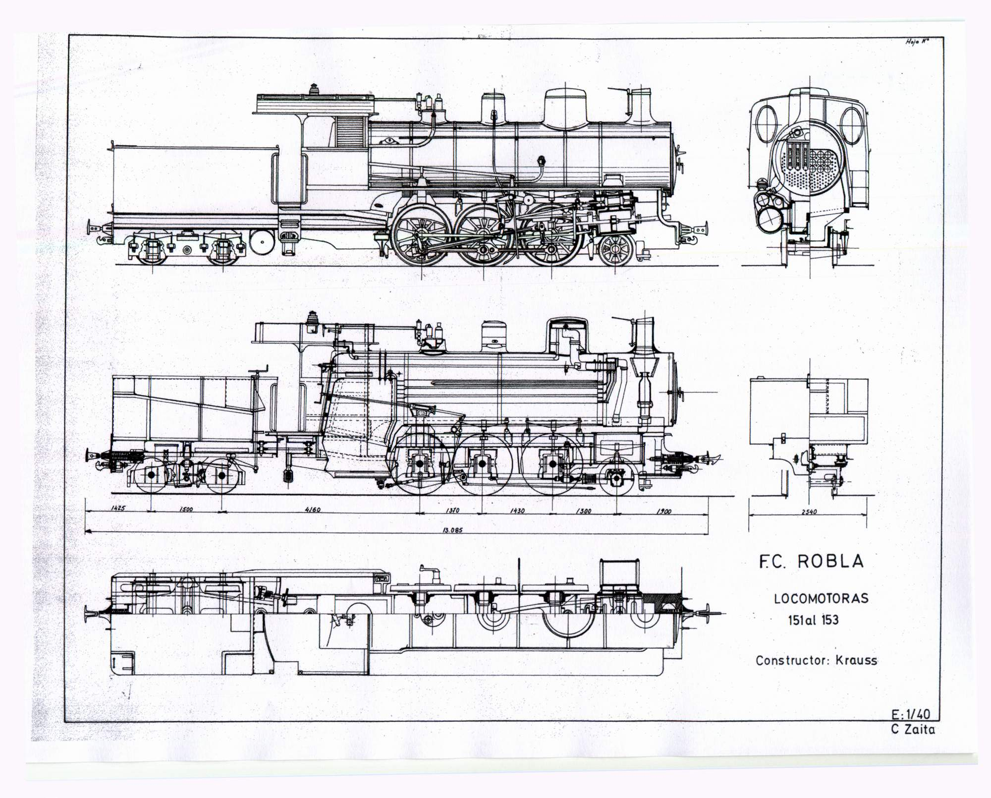 Locomotoras serie 130/ dibujo : Carmelo Zaita