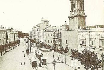 Plaza de Tetuan , en Valencia , postal comercial, fondo: Miguel Diago