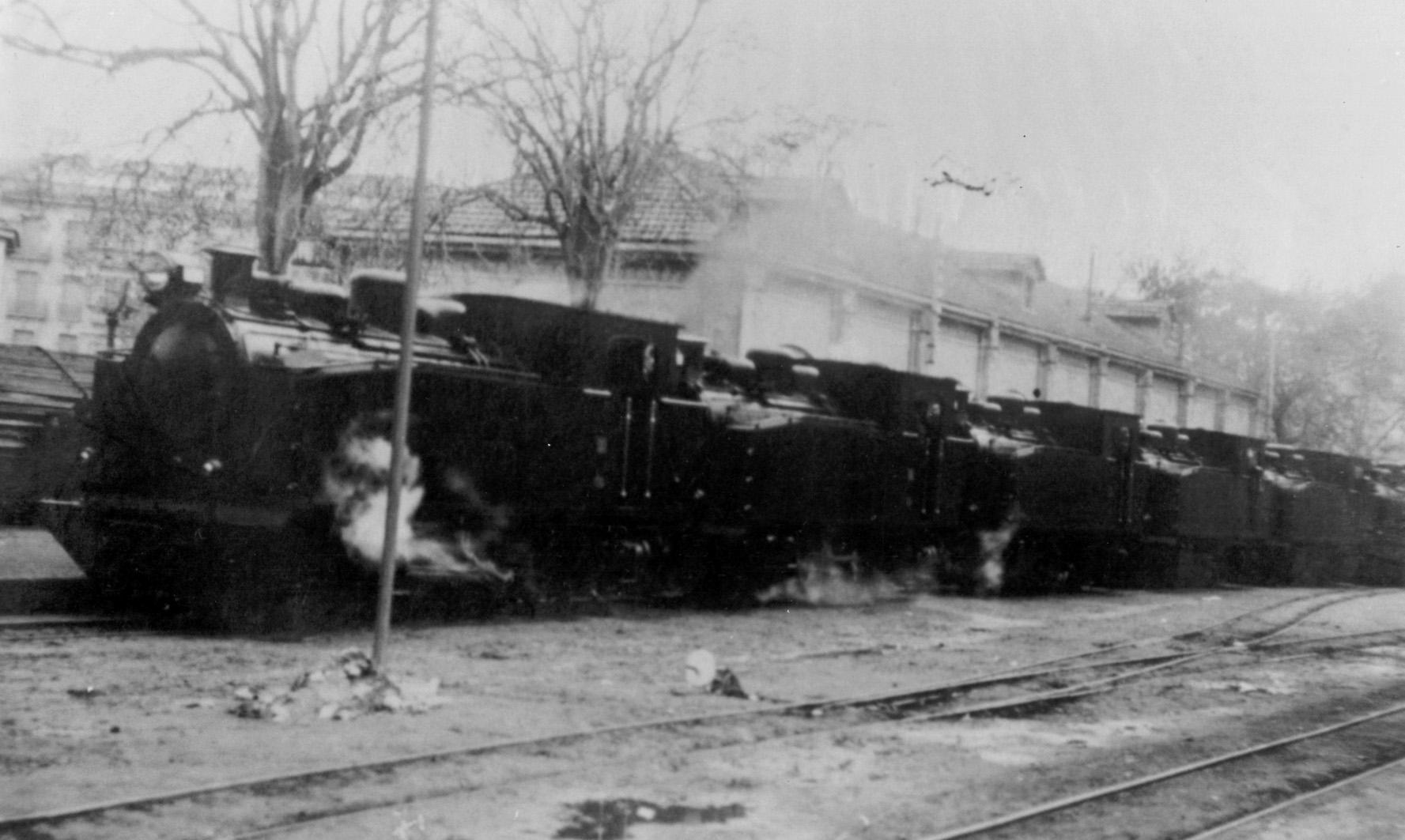 Recepcion de locomotoras , autor desconocido, fondo Carlos Olmo