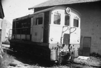Locomotora Alsthon, junio 1980, en Alicante, Foto Juan Peris Torner