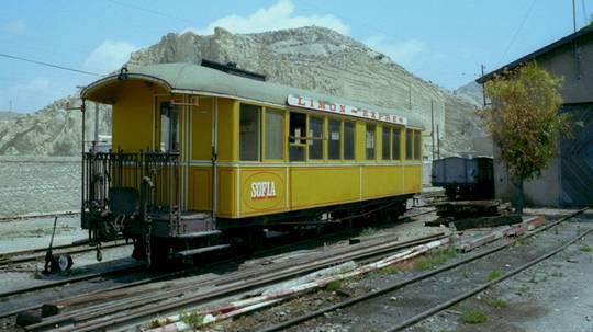 Coche restaurado del Limon Express,