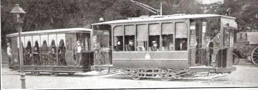 Tranvía al hipódromo , año 1916, foto : La Esfera