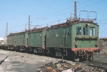 Rama de locomotoras electricas trifasivas del Gergal Santa Fe