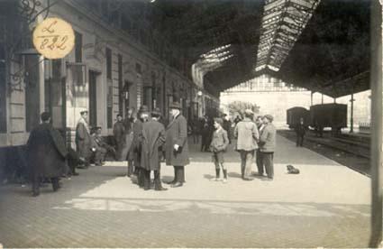 San Sebastian, andenes año 1920, fototeca Kutxa