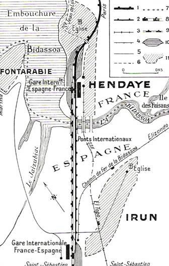 plano de la estacion de Hendaya