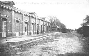 Estacion de Palma, postal comercial, fondo : Miguel Diago Arcusa