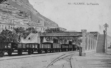 Ramal de Alicante puerto, La pasarela, postal comercial
