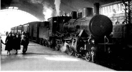 Tren en la estacion de Valencia