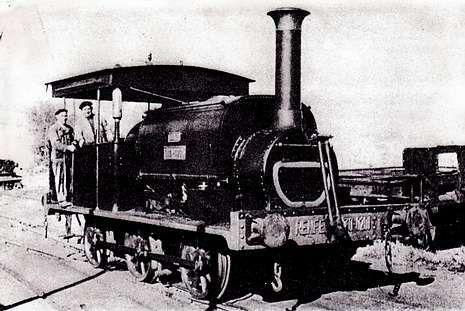 Locomotora SAR- foto archivo de La Voz de Galicia