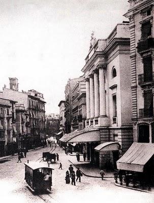 Tranvia frente al Teatro Principal , fondo Enrique Andrés Gramage